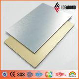 Золотистая почищенная щеткой отделка с панелью конкурентоспособной цены алюминиевой составной (ACP)