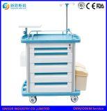 Carro/carretilla médicos del oficio de enfermera de la venta de la alta calidad del hospital del ABS caliente de los muebles