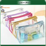Printed esterno Polyester Travel Wash Cosmetic Bag con Zipper
