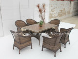 식사 Set New Design Wicker Furniture 또는 안뜰 정원 Outdoor Furniture (BP-3017)