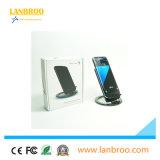 Pista sin hilos rápida del cargador de Qi del USB del teléfono elegante portable sin hilos micro del cargador