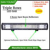 Super Bright barre lumineuse à LED 144W Triple rangée de barre de LED