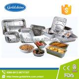 ふたが付いている使い捨て可能な世帯のアルミホイルの皿