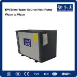 Evi Tech -15c Glycol Circle Loop Geothermal Ground Source Pump Heater著雪Winter Floor Heating 120sq Meter House 10kw/220V