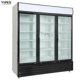 refrigerador vertical comercial triple de la puerta de oscilación 1500L