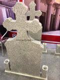 Customized Barato Headstone vertical de granito com vaso para o mercado da Roménia
