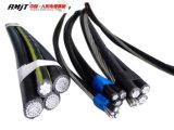 Cable por encima a dos caras, triple, Quadruplex del cable PE/XLPE del ABC