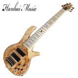 Guitare basse électrique de chaînes de caractères de Hanhai 6 avec le matériel d'or