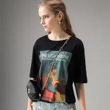Цветочный женщин короткие втулки футболка производителя