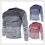 Chandail d'homme tricoté par loisirs d'O-Collet de jacquard d'Ombre de mode
