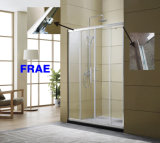 Dois fixar dois deslizando Chuveiro Baththub Tela da porta do compartimento de banho privada com chuveiro de vidro temperado da caixa de acessórios de banho de porta