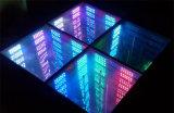 Abismo Dance Floor do espelho do RGB 3D para o estágio do banquete de casamento