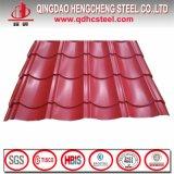 Colorer la tôle d'acier ridée par PPGI enduite pour la toiture