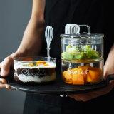 Insieme di vetro creativo di vetro della ciotola di insalata della ciotola di frutta di insalata della cristalleria di vetro della ciotola