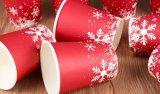 Taza de papel desechable de papel de Navidad