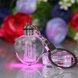 Venta caliente exquisita con diverso color y tamaño Llavero cristalino barato