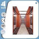 Elevatore della villa del pavimento del marmo dell'acciaio inossidabile dello specchio
