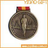 2017 Medaille van het Metaal van de Druk van het Plateren van de Legering van het Zink van de Douane de Goedkope Gouden Dierlijke met Sticker voor de Gebeurtenissen van de Sport (yB-m-030)