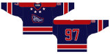 Customized Quebec Grande Liga de Hóquei Jr Cornwall Royals 1980-1992 Hóquei no Gelo Jersey