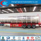 Трейлер масляного бака алюминиевого сплава 42000 топлива литров трейлера топливозаправщика