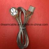 La fabricación de OEM transparente CCC China 1,8 m de cable de alimentación de CA con IEC C13