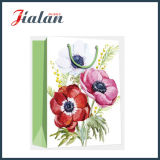 Rétro sac de papier de achat estampé par 4c de cadeau de transporteur de modèle de fleurs