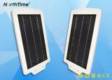 Cinq lampe solaire de jardin du détecteur de mouvement de la détection automatique PIR de couleurs DEL