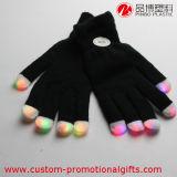 Großhandels-LED-multi Farben-blinkende Fingerspitze-Schwarz-Handschuhe