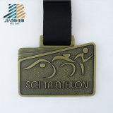 Bronze antique en alliage de zinc de cadeau de souvenir augmentant les médailles faites sur commande de trophées de guerrier