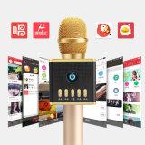 Микрофон Bluetooth микрофона Karaoke H8 беспроволочный с цветастым светом СИД