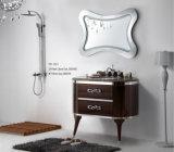 Armário espelhado da mobília do banheiro da vaidade do banheiro do projeto do armário do Embossment da forma do armário de banheiro banheiro novo (YB-927)
