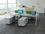 Modern Kantoormeubilair 4 Werkstation van het Bureau van de Persoon het Rechte (HF-BSP003)