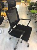 Personal ejecutivo del ordenador de la oficina de cuero que compite con la silla