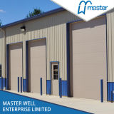 Commercial Use를 위한 Windows Inserted Galvanized Steel Stripe Industrial Door