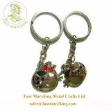 卸し売り彼のための習慣によってカスタマイズされる純銀製の金属Keychain