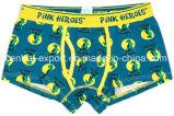Novo design de impressão Algodão Boxer homens breve roupas íntimas com autorização de eco