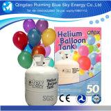 30/50lb 판매를 위한 소형 처분할 수 있는 헬륨 가스통 강철 헬륨 탱크 풍선