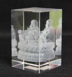 Ясная ранг K9 лазер 3D внутри кристаллический блока кубика
