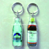 Promotion Gift를 위한 주문 Bottle Shape Clear Plastic Key Chain