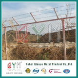 Aeroporto galvanizzato ricoperto PVC che recinta la barriera di sicurezza dell'aeroporto del collegare di /Barbed