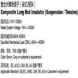 CS70SB140/600 11kV compuesto aislante de varilla larga