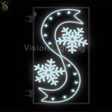 La Navidad en el exterior de la calle de la luz de Motif ornamento LED