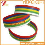 Изготовленный на заказ цветастый твердый Wristband кремния шелковой ширмы в Китае (YB-LY-WR-15)