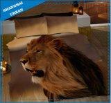アフリカ動物3Dは羽毛布団カバー敷布セットを印刷した