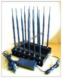Nuova emittente di disturbo del segnale del cellulare 2015, schermo dello stampo del segnale, emittente di disturbo 14bands per il cellulare 3G/4glte, GPS, Lojack, (radio a frequenza ultraelevata) Walky-Talky o telecomando dell'automobile