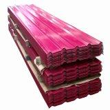 Paneles de metal de color acero corrugado revestimientos láminas de techo