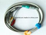 Medizinisches Monitor 2pin Kabel Iec-Snap&Klipp ECG