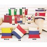 Het kussen van de Vlag van het Hoofdkussen van de Kop van de Wereld Nationale