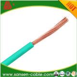 Fio isolado e Não-Sheathed do PVC Bvr do condutor de 300/500V Cu/Al do cabo