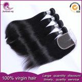 I capelli umani del Virgin malese poco costoso di prezzi tessono con la chiusura del merletto